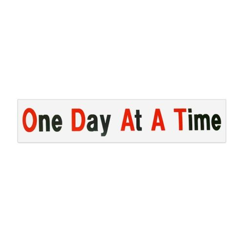 One Day At A Time Bumper Sticker