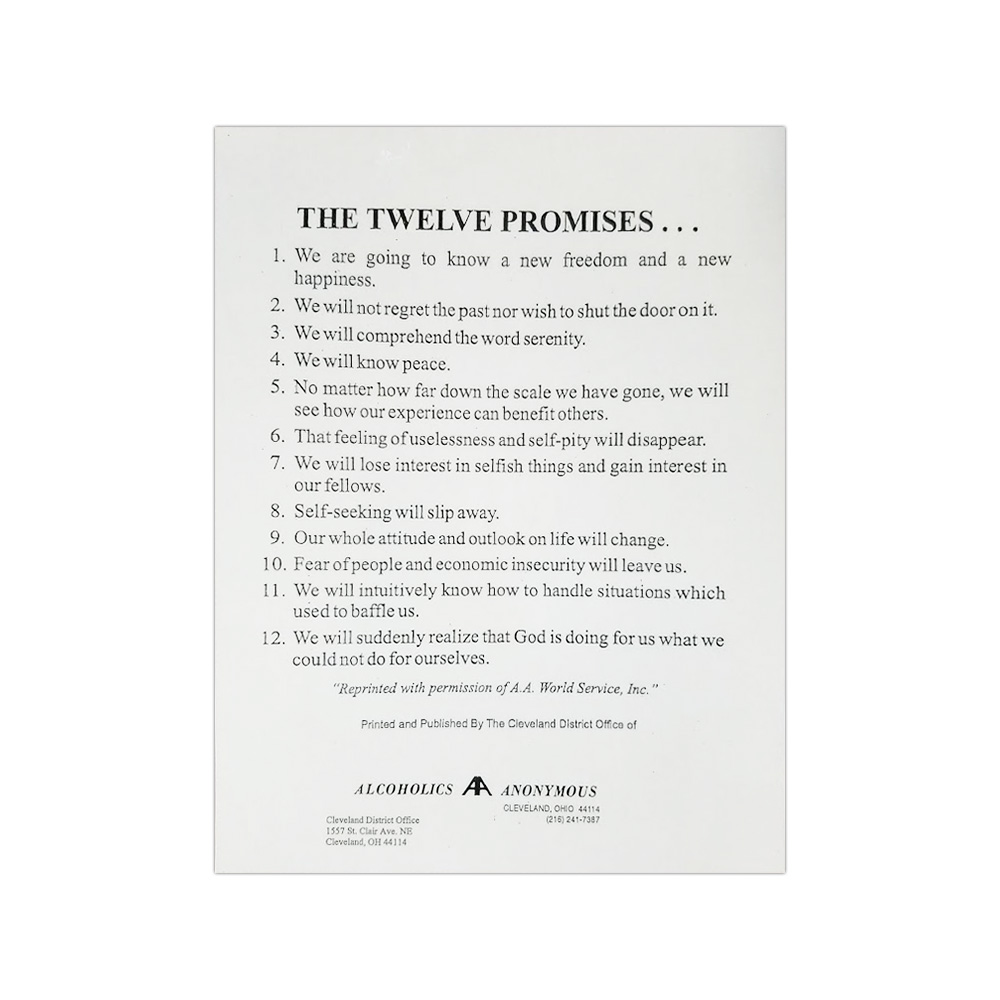 It's just a picture of Genius Aa Promises Printable