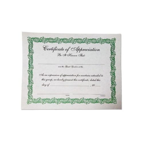 Certificate of Appreciation (large)