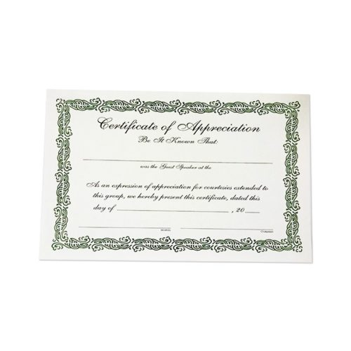 Certificate of Appreciation (Leads)