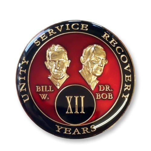 Bill and Bob Medallion Red