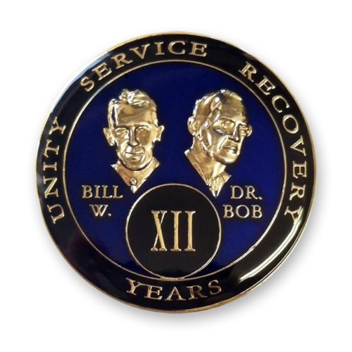 Bill and Dr. Bob Triplate Medallion Blue