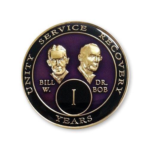 Bill and Dr. Bob Triplate Medallion Purple