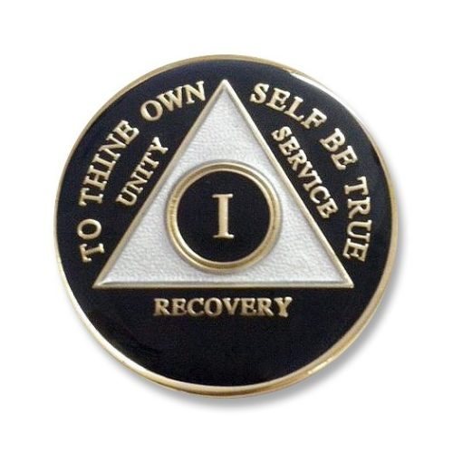 Triangle Triplate Anniversary Medallion Black