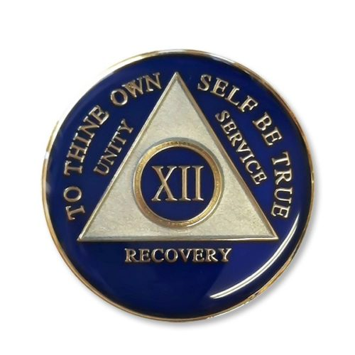 Triangle Triplate Anniversary Medallion Blue