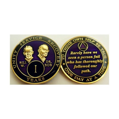 Bill and Dr. Bob Triplate Anniversary Medallion - Back