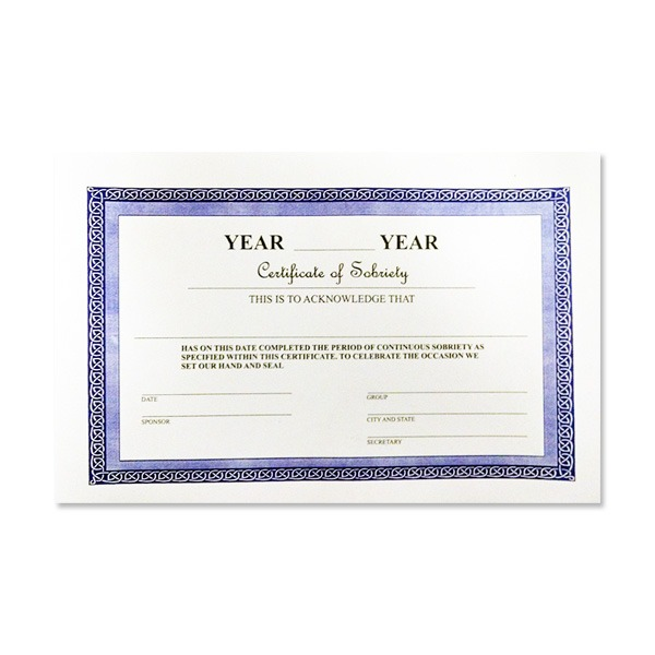 Certificate of Sobriety