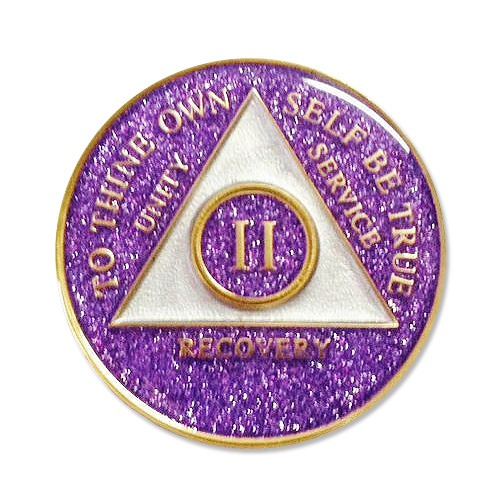 Purple Glitter Medallion