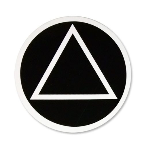 Circle Triangle - black w/ white trim