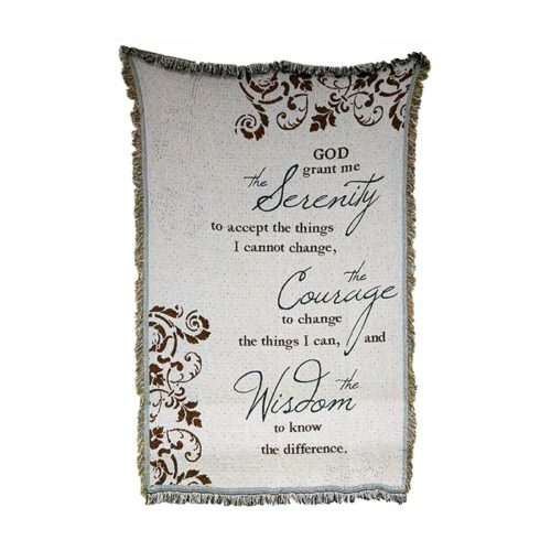 Serenity Prayer Afghan