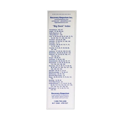 Big Book Concordance Bookmark