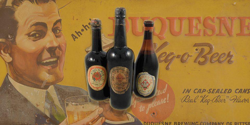 three bottles of ale