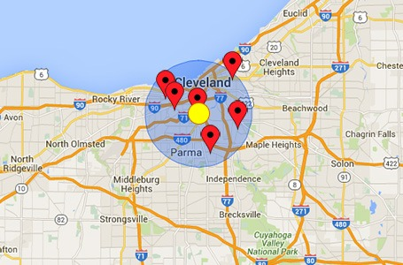 Find A.A. meeting within a specific radius of your area