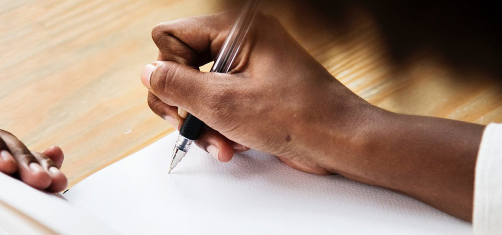 black woman writing